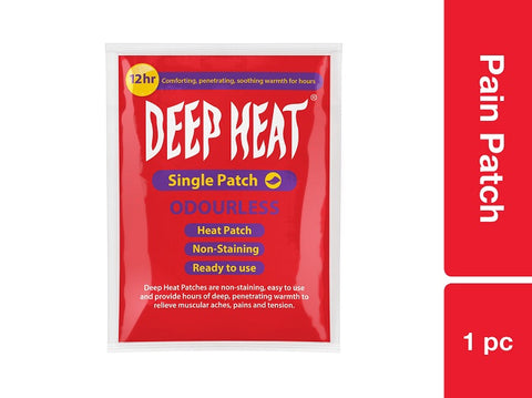 Deep Heat Pain Patch 1pc Pack of 12