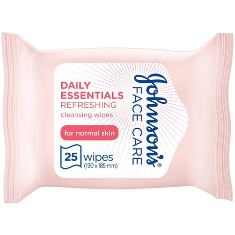 Johnsons Daily Essentials Wipes Normal 25s
