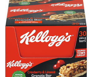 Kelloggs Cranberry and Lindseed Granola Bar 44g Pack of 30