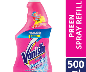 Vanish Power O2 Spray Refill 500ml Case of 12