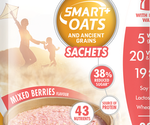 Futurelife Smart Oats and Ancient Grains Mixed Berries 10 x 50g Case of 6