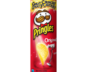 Pringles Original flavoured savoury snack 110g Pack of 12