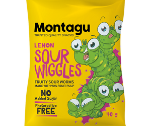 Montagu Sour Wiggles Lemon 40g Pack of 10