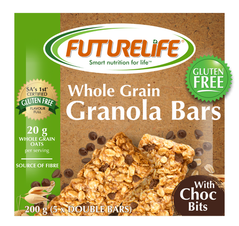 Futurelife Whole Grain Choc Bits Granola Bar 5 x 40g Case of 12