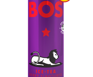 BOS Ice Tea Berry 330ml can case of 24