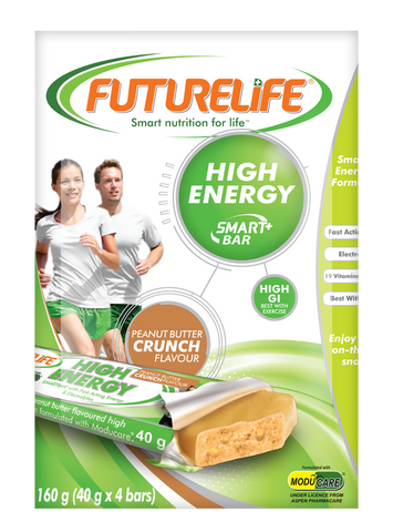 Futurelife High Energy SmartBar Multi Pack Peanut Butter 4 x 40g case of 10