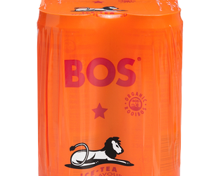 BOS Ice Tea Peach 330ml can 4pack