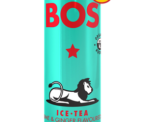 BOS Ice Tea Lime and Ginger 330ml can case of 24