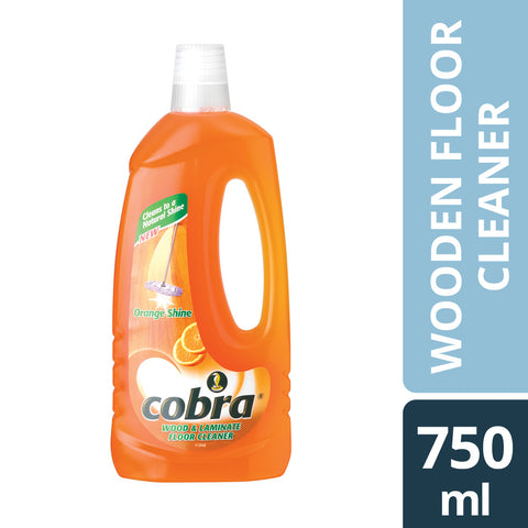 Cobra Wooden Floor Cleaner (Laminate Cleaner Orange) 750ml Case of 12