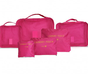 SideKick Travel Organiser Set 6pc - Coral
