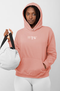 Unisex Genie Hoodie in Canyon Pink: Men/Women/Kids/Baby Graphic Hoodies, Clothing, T-Shirts and Accessories from WAW Group - Weird and Wonderful Group, independent, boutique, fashion and design brand UK