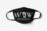 WAW Group Face mask in black: Men/Women/Kids/Baby Graphic Hoodies, Clothing, T-Shirts and Accessories from WAW Group - Weird and Wonderful Group, independent, boutique, fashion and design brand UK