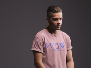 Men's Classic WAW Group Weird and Wonderful T-Shirt on Pink: Men/Women/Kids Graphic Hoodies, Clothing, T-Shirts and Accessories from WAW Group - Weird and Wonderful Group, independent, boutique, fashion and design brand UK