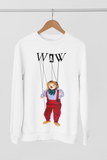 Men's Jules the Puppet Sweatshirt / Jumper / Pullover on White: Men/Women/Kids/Baby Graphic Hoodies, Clothing, T-Shirts and Accessories from WAW Group - Weird and Wonderful Group, independent, boutique, fashion and design brand UK