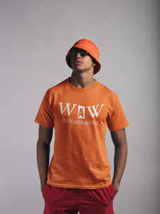 Men's Classic WAW Group Weird and Wonderful T-Shirt on Orange: Men/Women/Kids Graphic Hoodies, Clothing, T-Shirts and Accessories from WAW Group - Weird and Wonderful Group, independent, boutique, fashion and design brand UK