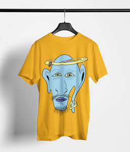 Men's Genie T-Shirt on Spectra Yellow: Men/Women/Kids Graphic Hoodies, Clothing, T-Shirts and Accessories from WAW Group - Weird and Wonderful Group, independent, boutique, fashion and design brand UK