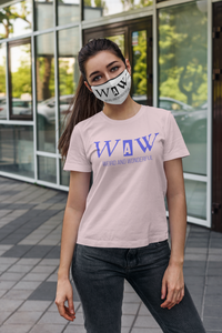 WAW Group Face mask in white: Men/Women/Kids/Baby Graphic Hoodies, Clothing, T-Shirts and Accessories from WAW Group - Weird and Wonderful Group, independent, boutique, fashion and design brand UK
