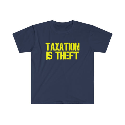 Taxation Is Theft Graffiti Navy Blue