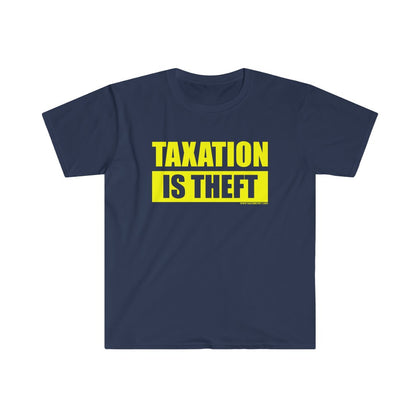 Taxation Is Theft Official - Navy Blue
