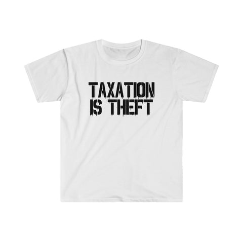 Taxation Is Theft Graffiti White