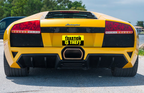 Taxation Is Theft Custom Classic License Plate