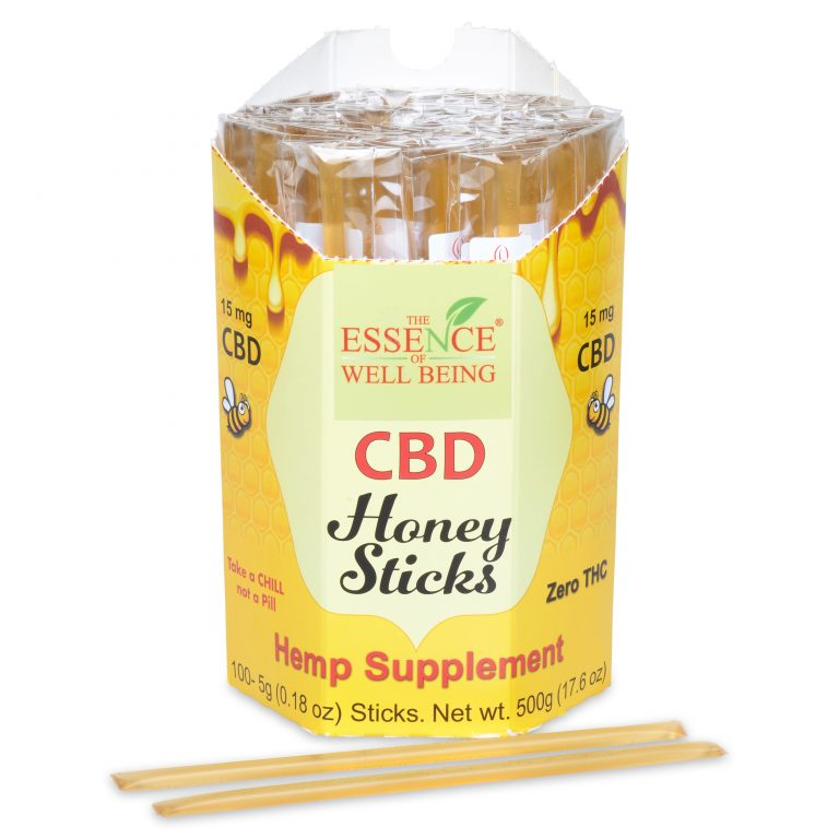 CBD Honey Sticks, THC Free  Buy 5, Get 1 Free