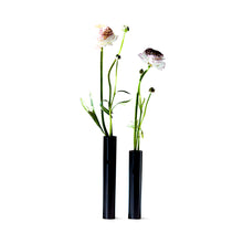 Load image into Gallery viewer, Slim Vase 14 cm - Black Powder Coated Steel