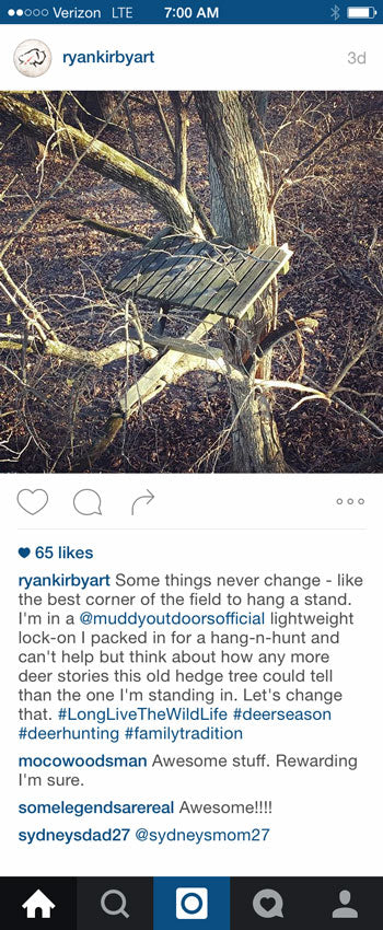Ryan Kirby Instagram stand from 2015