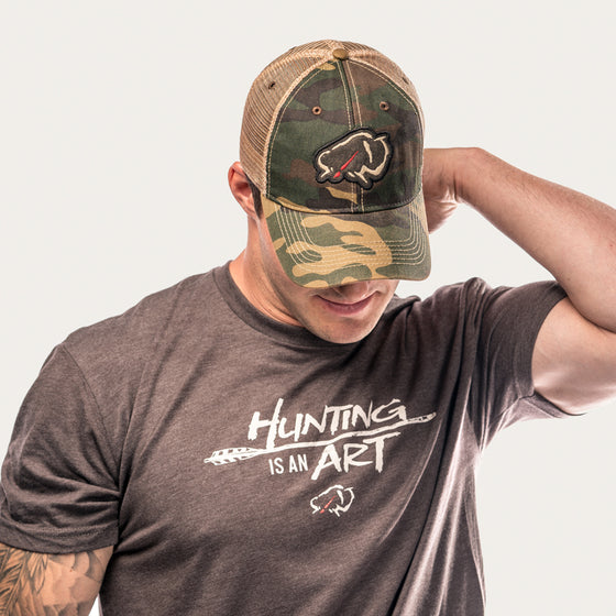 Ryan Kirby Art Vintage Camo Trucker Hat