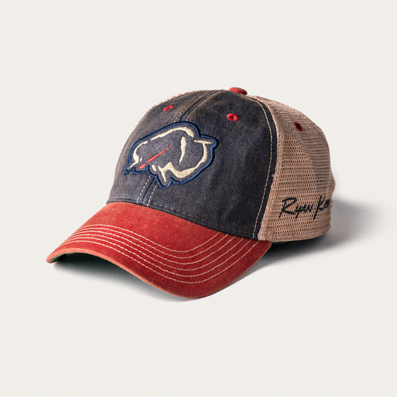 Ryan Kirby Art Vintage Red, White & Blue Trucker Hat