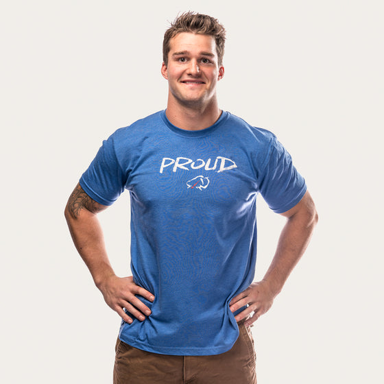 """Proud Like A Bull"" Elk T-Shirt [Blue]"