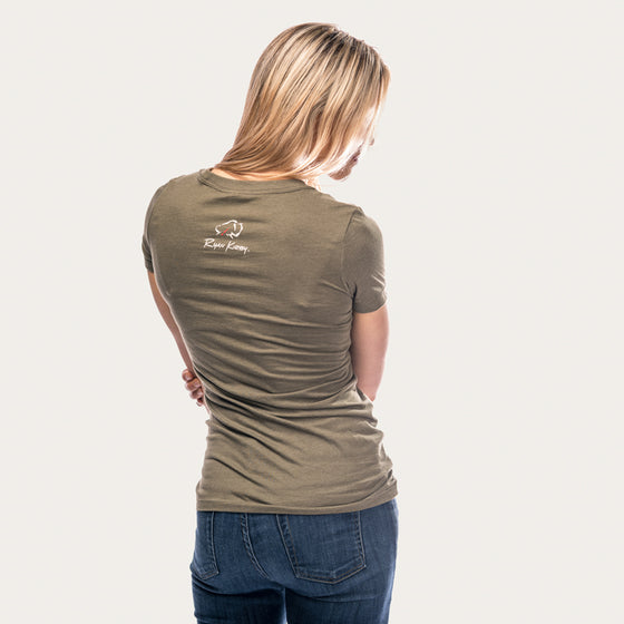 Hunting Is Beautiful Women's V-Neck T-Shirt [Military Green]