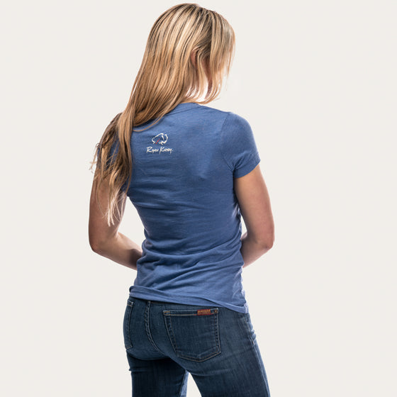 Ryan Kirby Logo Women's V-Neck T-Shirt [Blue]