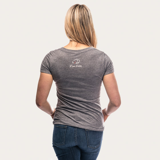 Ryan Kirby Logo Women's V-Neck T-Shirt [Grey]