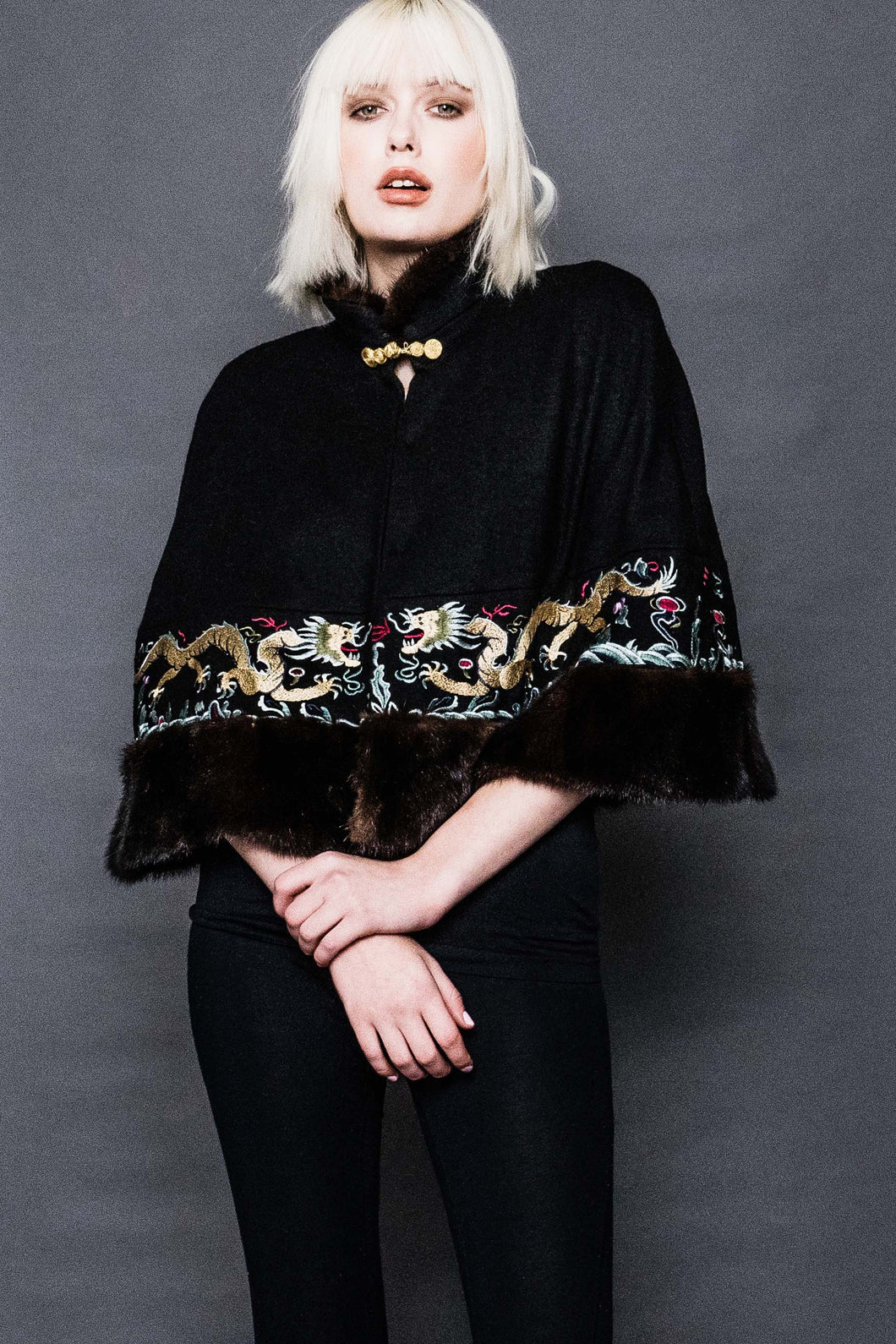 Wool Embroidered Cape