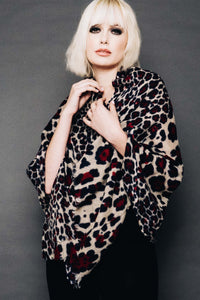 Wool & Cashmere Animal Print Scarf