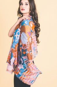Colourful Printed Scarves