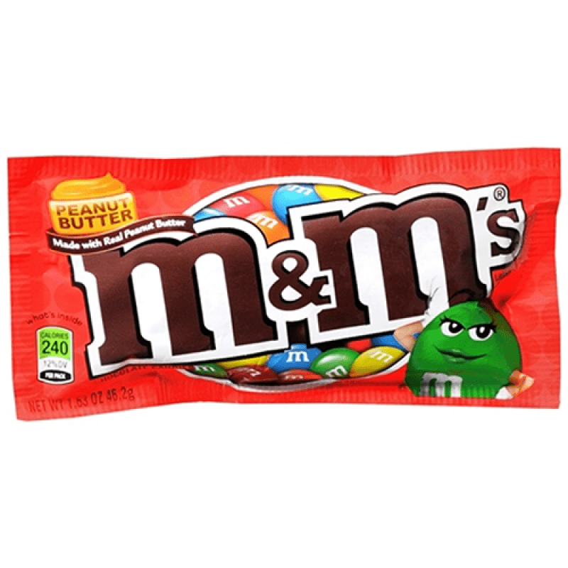 M&M's Peanut Butter Chocolate Candies Bag 46g (USA Import)