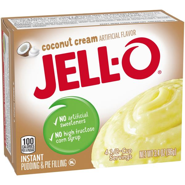 Jell-O Instant Pudding Coconut Cream 96g