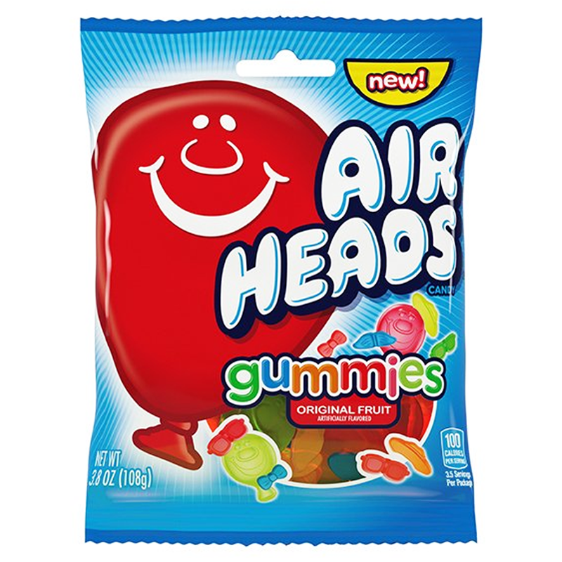 Airheads Gummies Peg Bag 107g