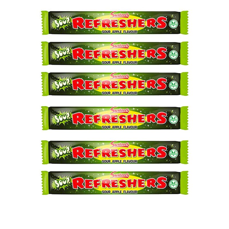 Swizzels Refreshers Sour Apple Chew Bars 10 x 18g