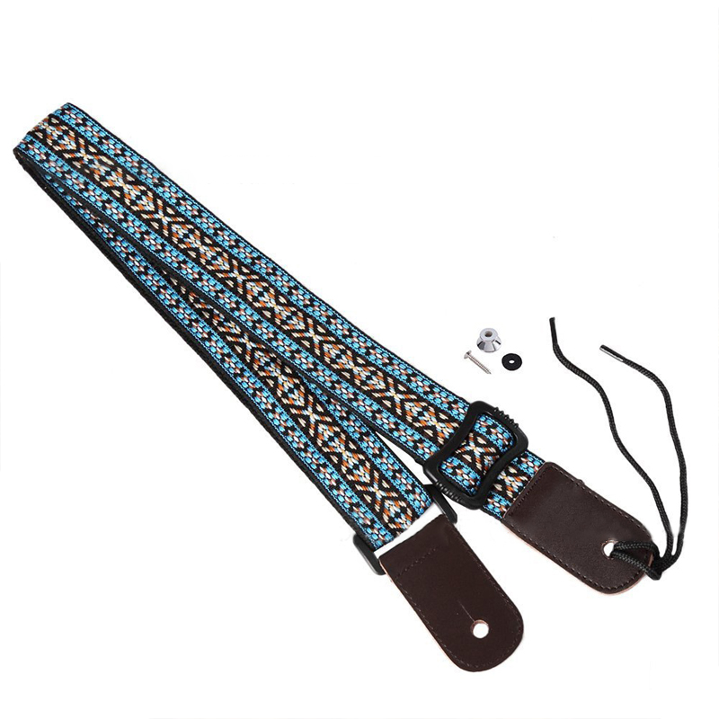 Ukulele M01512 Premium Leather Guitar Strap, Blue