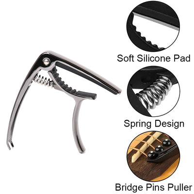 GC50 Guitar Capo Gold-plated Zinc Alloy, Bronze