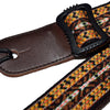 "Crafted Leather Ukulele Strap, 1.5"" Yellow"