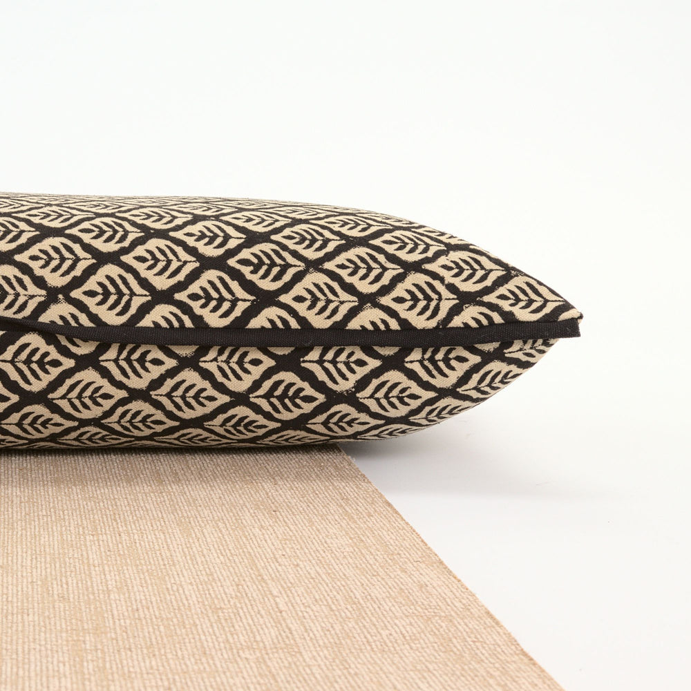 Load image into Gallery viewer, Black Leaf Yoga Pillow-Yoga-Block Printed, Yoga Pillows-