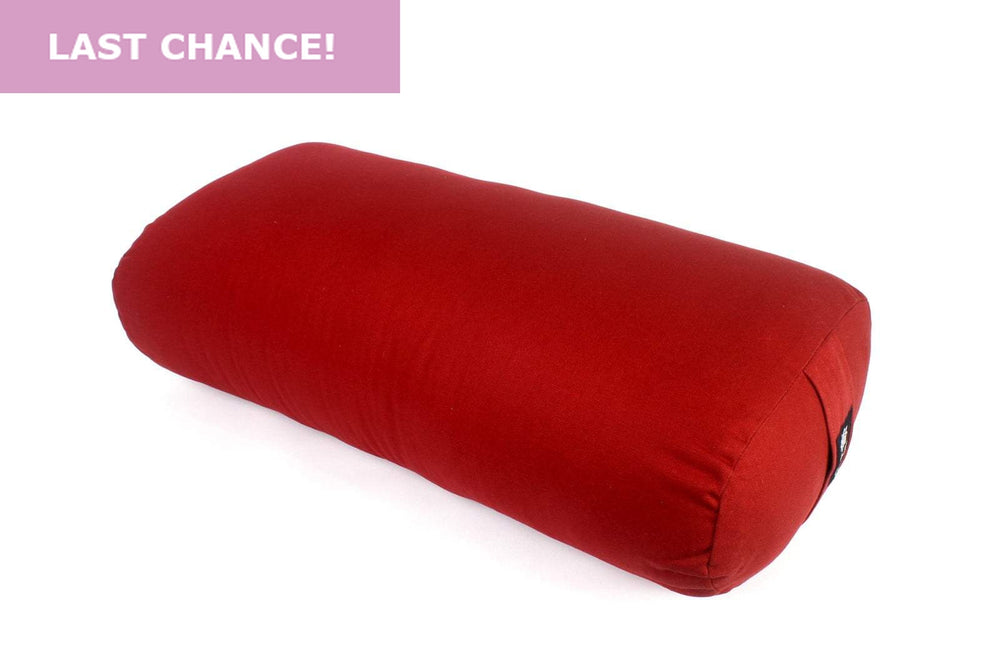 Load image into Gallery viewer, Burgundy oval yoga bolster-Yoga Bolster-Classic, Oval Bolsters-