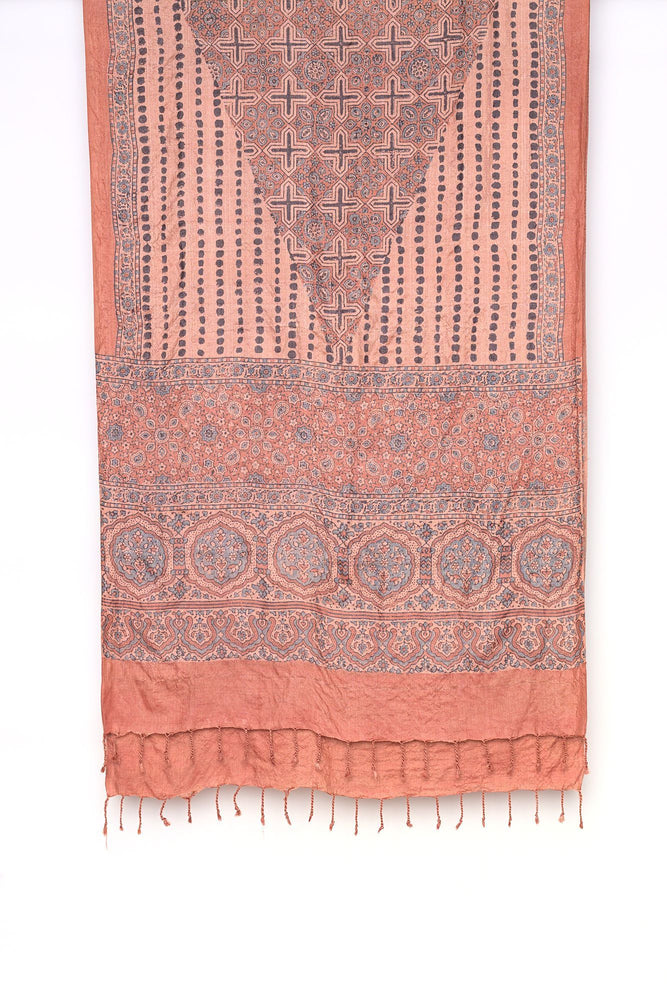 Madder root wild silk natural dye scarf