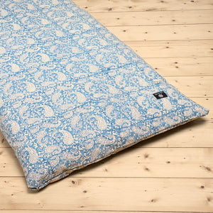 Load image into Gallery viewer, Dreamy Blue Paisley Yoga Nidra and Meditation Futon-Meditation-Block Printed, Futons-