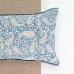 Dreamy Blue Paisley Yoga Pillow-Yoga-Block Printed, Yoga Pillows-