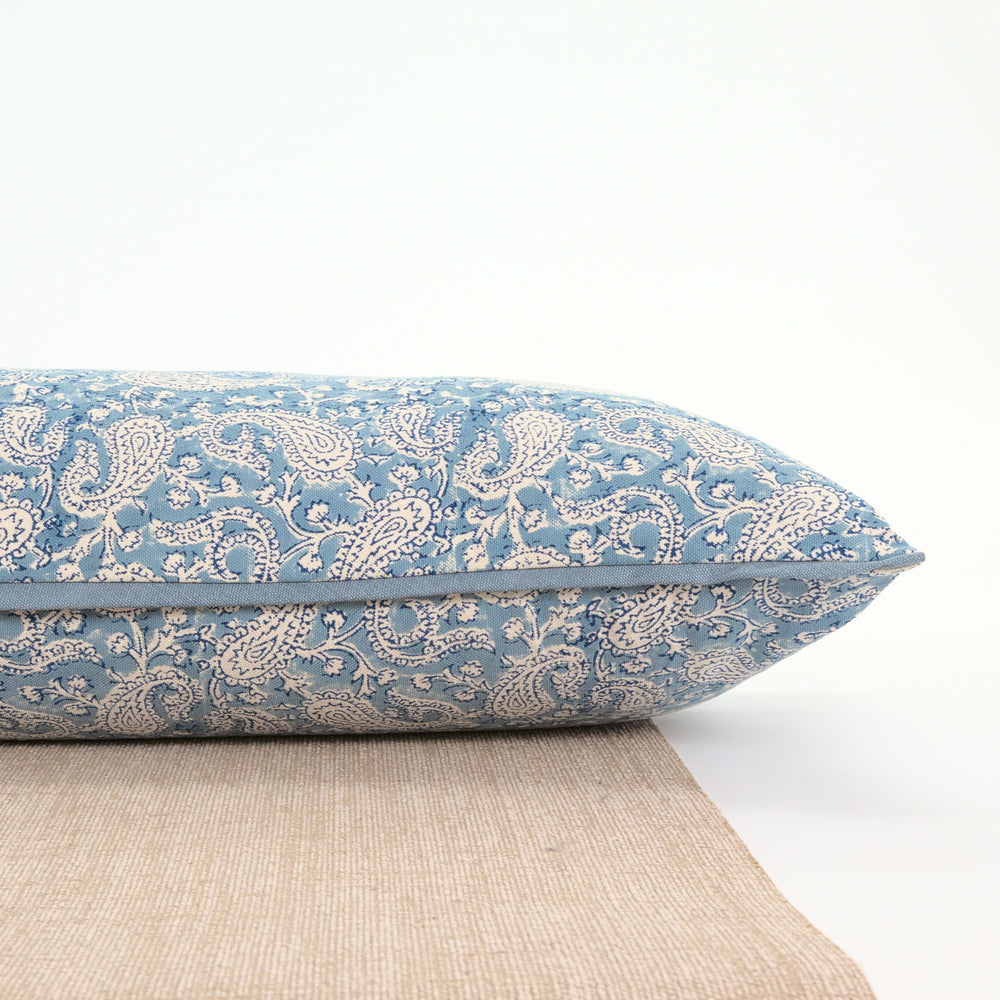 Load image into Gallery viewer, Dreamy Blue Paisley Yoga Pillow-Yoga-Block Printed, Yoga Pillows-